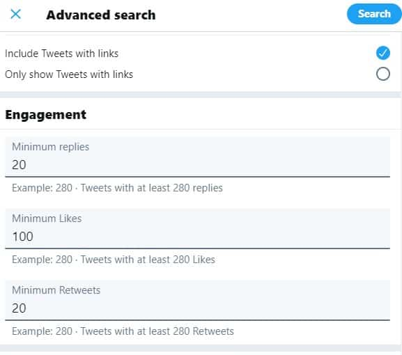 twitter advanced search options